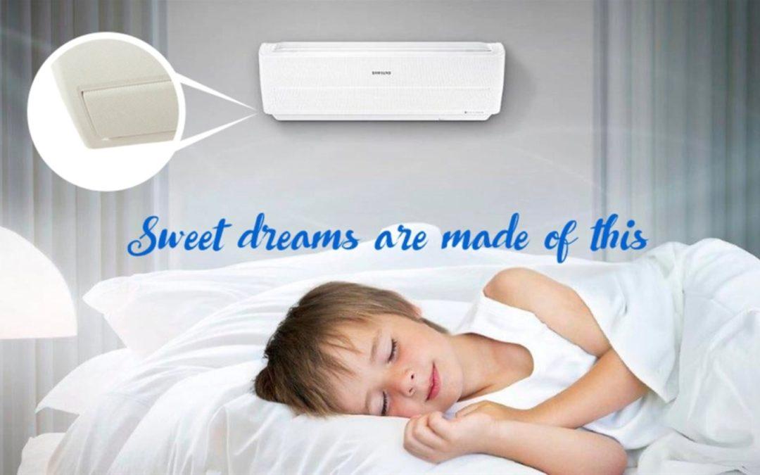 ►Aire acondicionado Samsung con tecnología Wind-Free